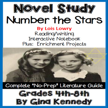 Number the Stars Novel Study & Enrichment Projects Menu