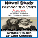 Number the Stars Novel Study & Enrichment Projects Menu; Digital Option