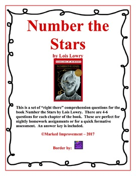 Number the Stars Comprehension Questions