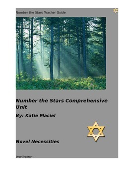 Number the Stars Deluxe Comprehensive Unit- Teacher Guide and Student Packet
