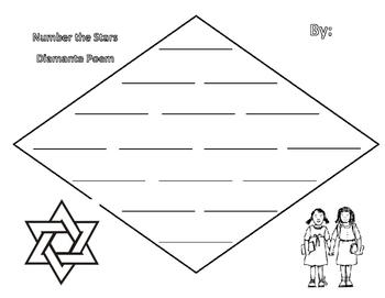 Number the Stars Diamante Poem