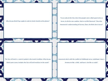 Number the Stars Discussion Question Task Cards
