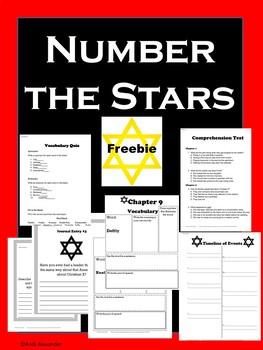 Number the Stars Freebie