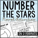 Number the Stars by Lois Lowry Novel Study Unit Activities, In 2 Formats
