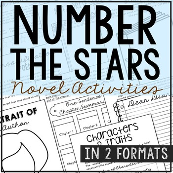 Number the Stars Interactive Notebook Novel Unit Study Act