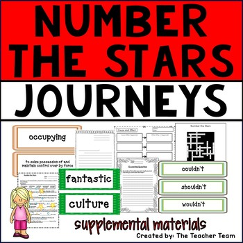 Number the Stars Journeys 6th Grade Unit 5 Lesson 23 Activities and Printables