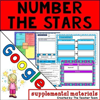 Number the Stars Journeys 6th Grade Unit 5 Lesson 23 Google Drive Resource