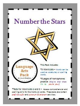 Number the Stars Language Arts Pack - FREE