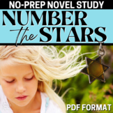 Number the Stars Novel Teaching Guide, Complete Unit - Activities, Tests