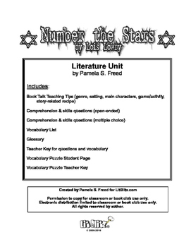 Number the Stars Literature Unit or Book Club Selection