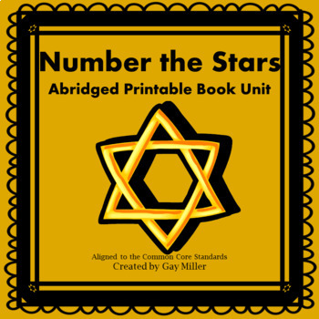 Number the Stars Abridged Novel Study: vocabulary, comprehension questions