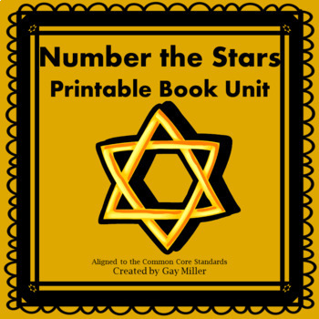 Number the Stars [Lois Lowry] Printable Book Unit