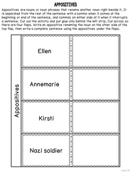 Number the Stars Mentor Sentences & Interactive Activities Mini-Unit (gr. 4-6)