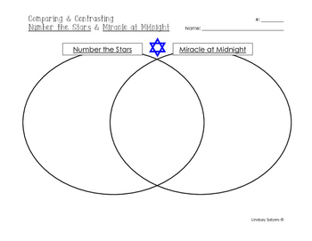 Number the Stars: Venn Diagram with Miracle at Midnight