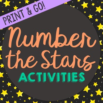 Number the Stars Novel Unit Study Activities, Book Companion Worksheets, Project