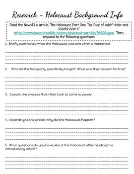 Number the Stars Higher-Order Thinking Novel Study (CCSS Aligned)