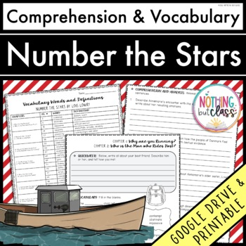 Number the Stars: Comprehension and Vocabulary by chapter