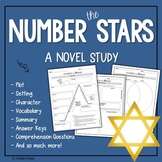 Number the Stars Comprehension Questions, Vocabulary, and Complete Novel Study
