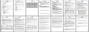 Number the Stars Novel Unit  Activities, Handouts, Tests