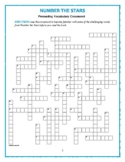Number the Stars: 50-Word Prereading Crossword—Great Warm-Up for the Book!