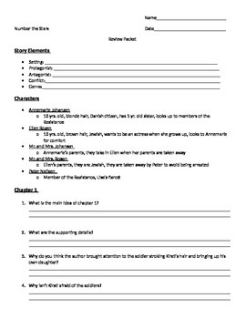 Number the Stars Question Packet