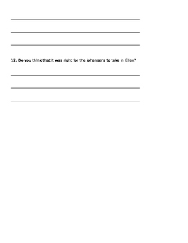 Number the Stars Quiz Chapters 1-5