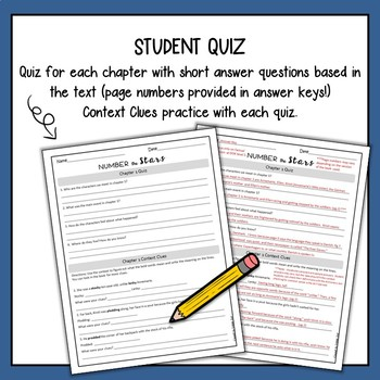 Number the Stars Quizzes (Focus Skill: Context Clues)