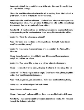 Number the Stars Reader's Theater - Chapter 5