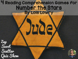 Number the Stars Reading Comprehension GAMES ~ 4 in 1!