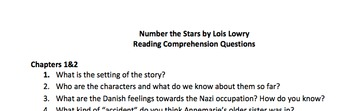 Number the Stars Reading Comprehension Questions