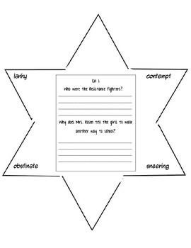 Number the Stars Reading Response Star Journal