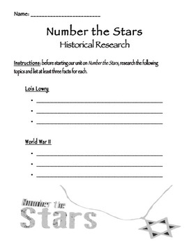 Number the Stars Pre-Reading Research