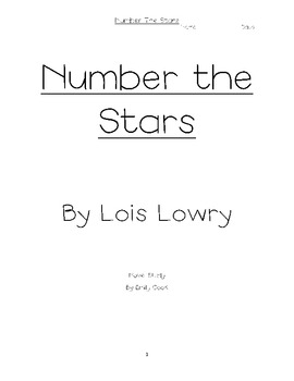 Number the Stars Response Packet