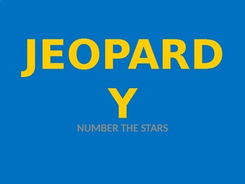 Number the Stars Review Jeopardy Game
