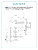 Number the Stars: Synonym/Antonym Vocab Crossword—Use with Bookmarks Plus!
