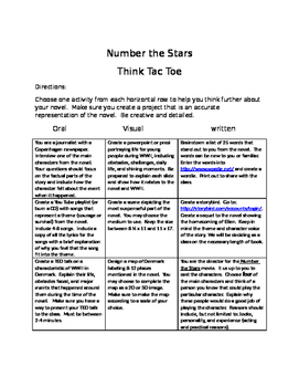 Number the Stars: Think Tac Toe
