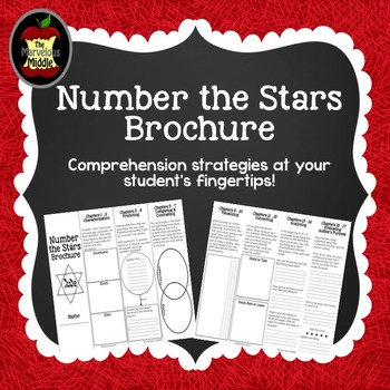 Number the Stars Comprehension Bookmark