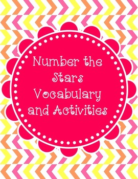 Number the Stars Vocabulary and Activities