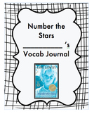 Number the Stars Vocabulary Journal and Notebook