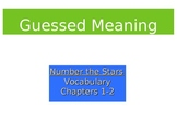 Number the Stars Vocabulary Words: PowerPoint & Guessed Meaning Strategy