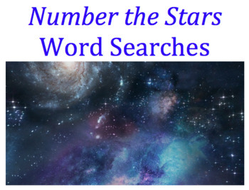 Number the Stars Word Searches- BUNDLE