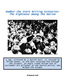 Number the Stars Writing Extension: The Righteous Among The Nation