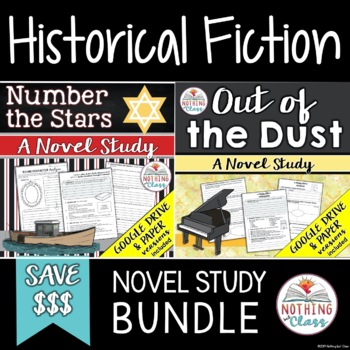 Number the Stars and Out of the Dust Novel Study Unit Bundle: Historical Fiction
