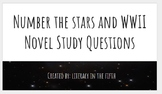 Number the Stars and WWII Novel Unit Questions