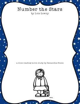 Number the Stars by Lois Lowry CCSS aligned close reading guide