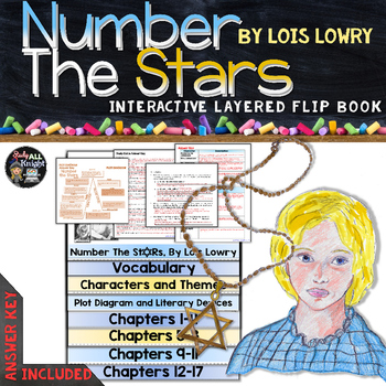 NUMBER THE STARS BY LOIS LOWRY NOVEL STUDY LITERATURE GUIDE FLIP BOOK