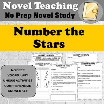 Number the Stars by Lois Lowry - NOVEL STUDY - No Prep