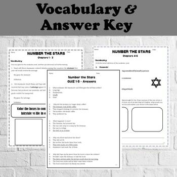 Number the Stars Novel Study - No Prep - Printable Activities and Comprhension