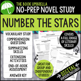 Number the Stars Novel Study - Distance Learning - Google Classroom compatible