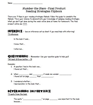 Number the Stars by Lois Lowry Novel Study Final Project + Lesson Plan + Rubric
